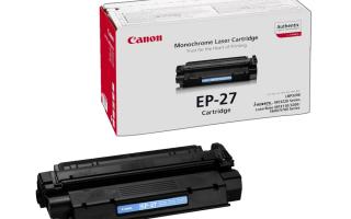 Как заправить картридж принтера Canon