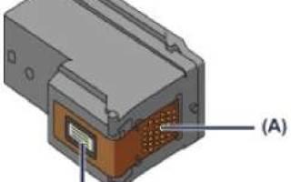 Установка картриджа в принтер Canon