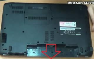 Разборка ноутбука Samsung