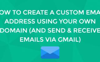 Изменение адреса электронной почты в Gmail