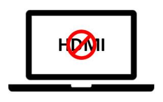 Что делать, если HDMI не работает на ноутбуке