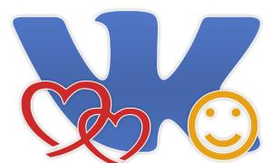 Использование сердец из смайликов ВКонтакте