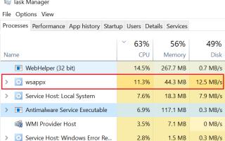 Что делать, если процесс WSAPPX грузит жесткий диск в Windows 10