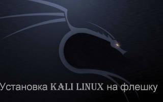 Инструкция по установке на флешку операционной системы на примере Kali Linux