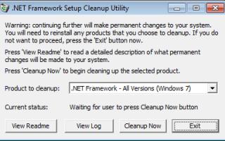 Удаляем Microsoft .NET Framework