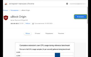 UBlock Origin: блокировщик рекламы для браузера Google Chrome