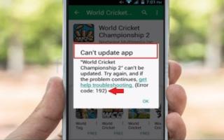Устранение ошибки с кодом 192 в Google Play Маркете