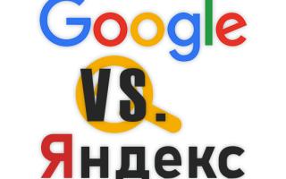 Сравнение поисковых систем Google и Яндекс