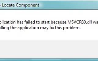 Что делать с ошибкой msvcr80.dll